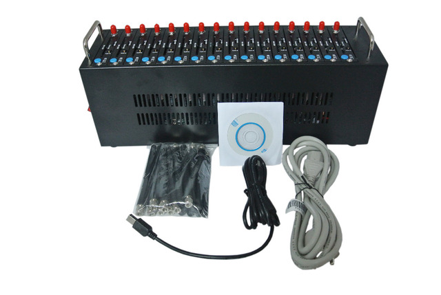 Factory Dual-band 16 Ports GSM Modem pool with USB for Bulk SMS sending