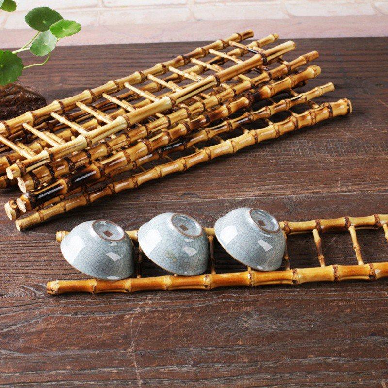 Prateleira de chá para chávenas de chá, secadora de bambu, suporte para chávenas de chá, Pegue uma prateleira de armazenamento ...