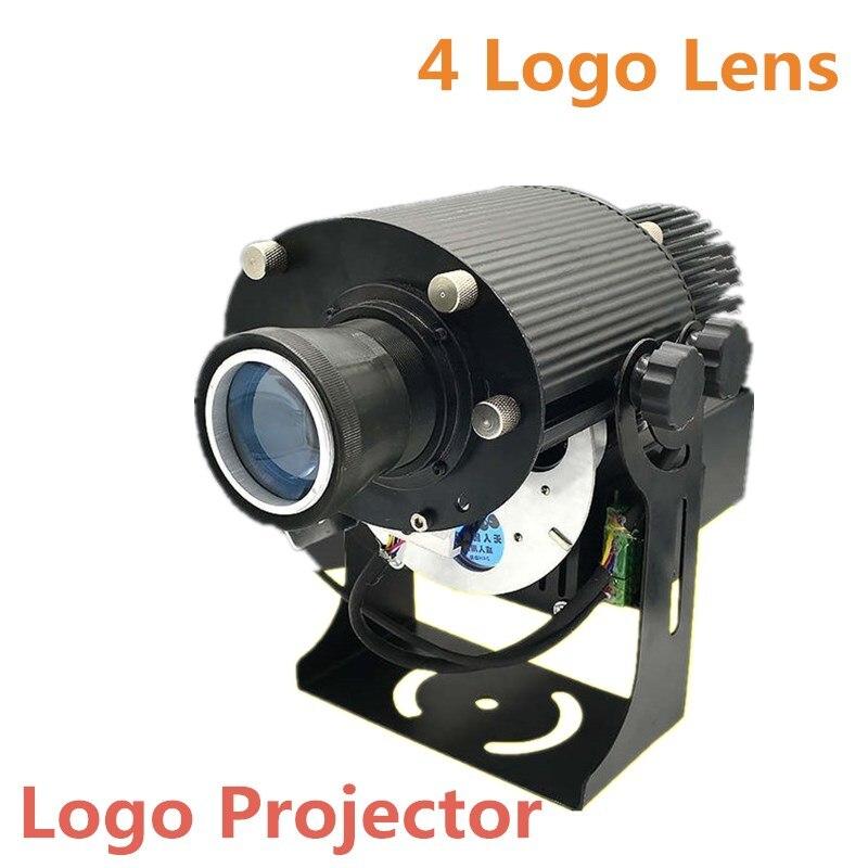 Logo projecteur 4 Logo lentille entrée logo personnalisé 20 W 40 W 80 W sur mesure-tai intérieur projecteur affichage Gobo scène éclairage