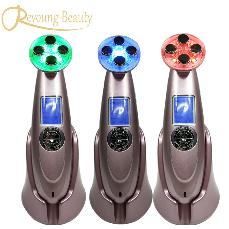 цена Needle Free Electroporation Mesotherapy EMS RF Radio Frequency Skin Tightening Photonrejuvenation Vibration Beauty Instruments