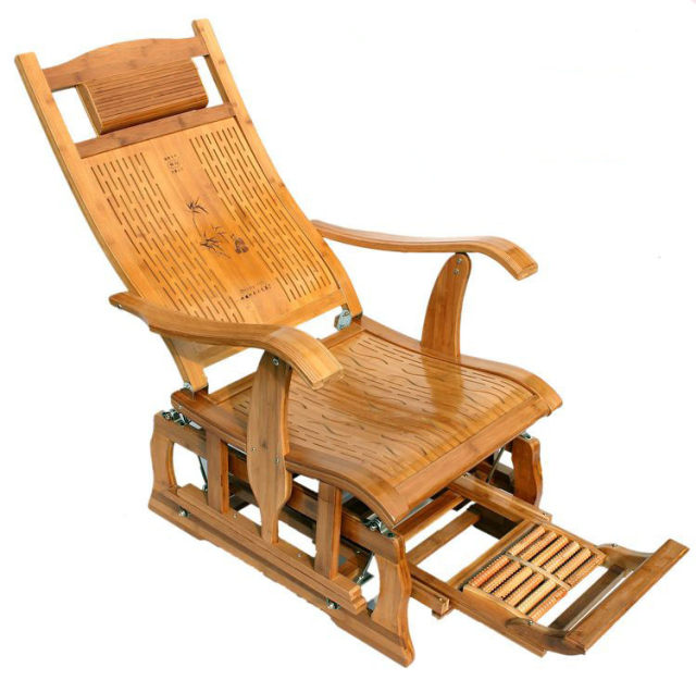 Online Shop Modern Bamboo Rocking Chair Adult Glider Rocker ...