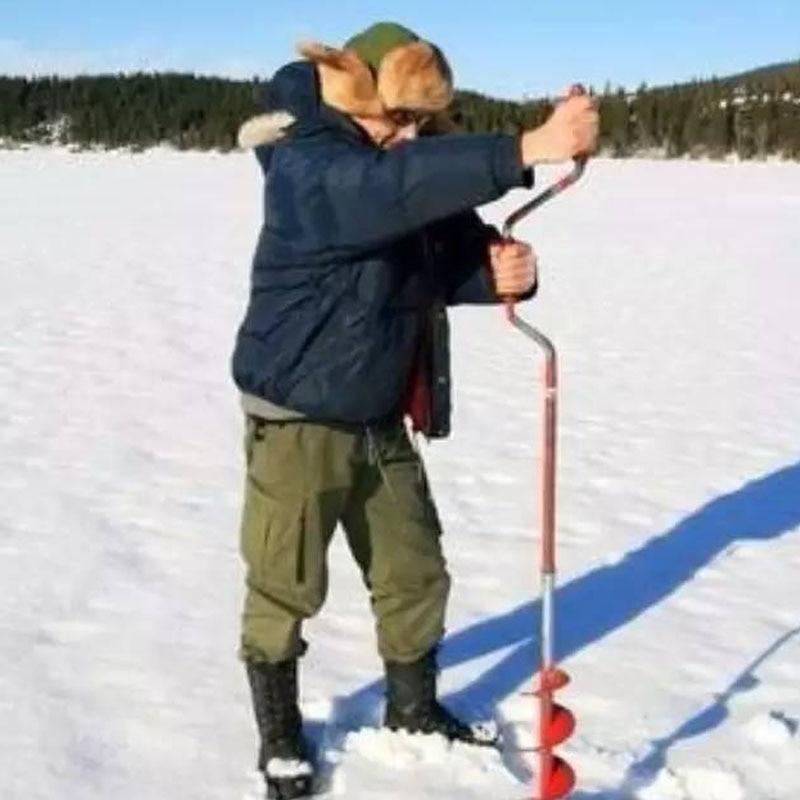La russie Finlande Norvège Hiver Glace De Pêche Outils Essentiels Main Spirale De Forage Glace De Pêche Quatre Spécifications Trois Couleurs