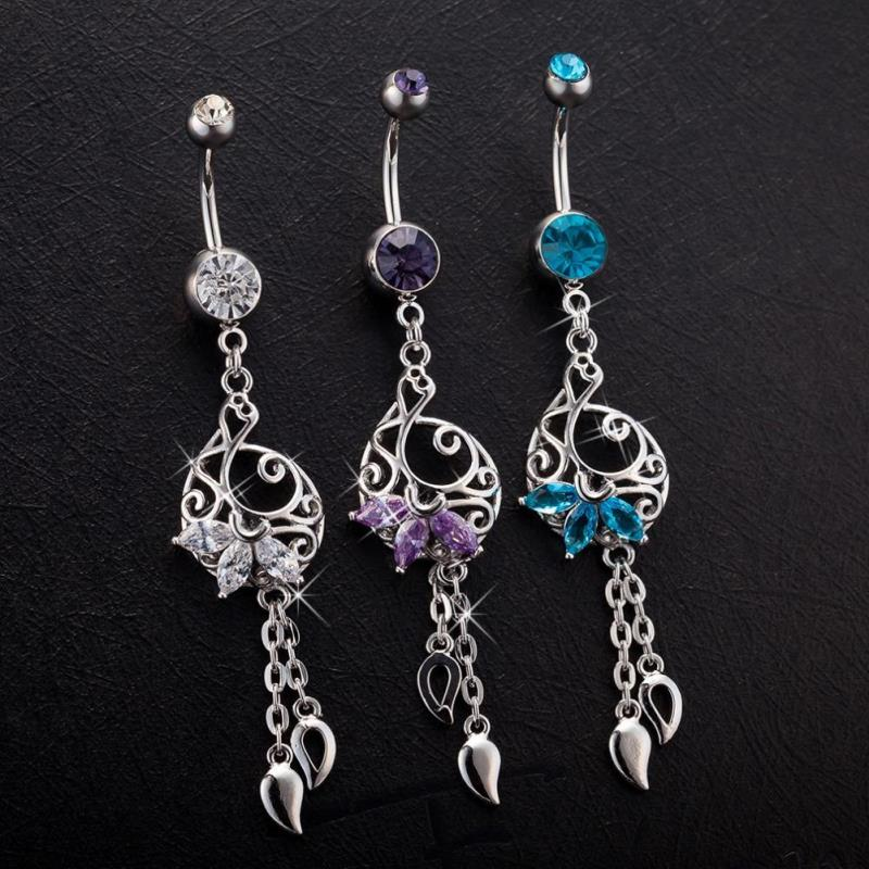 Top quality body piercing jewelry fashion dangle belly for Belly button jewelry store