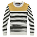 Asia size M-3XL100% Cotton 2016 Winter New Mens O-Neck Thickening Warm Sweater Men Striped Pullover Sweater Men Knitted sweater
