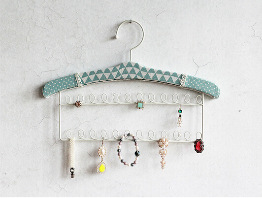 Wall Mounted Hooks Earring Necklace Jewelry Display Rack