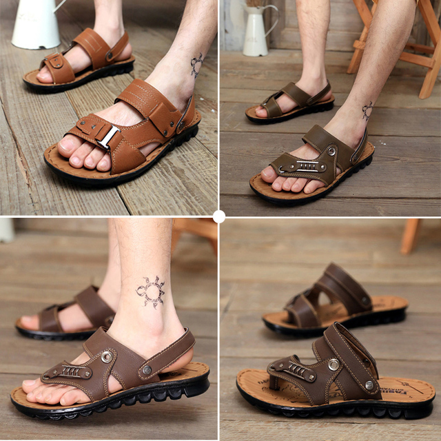 564beafa9 Free Shipping 2015 Summer New Men s Sandals Hollow Out Home Slippers  Fashion Able Casual Flat Sandals Men Shoes slides