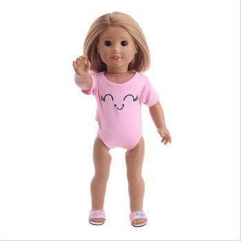 Adecuado para 18 pulgadas 40-43cm recién nacido accesorios para muñeca bebé muñeca Rosa Blanco rojo Color traje de baño ropa para bebé regalo de cumpleaños
