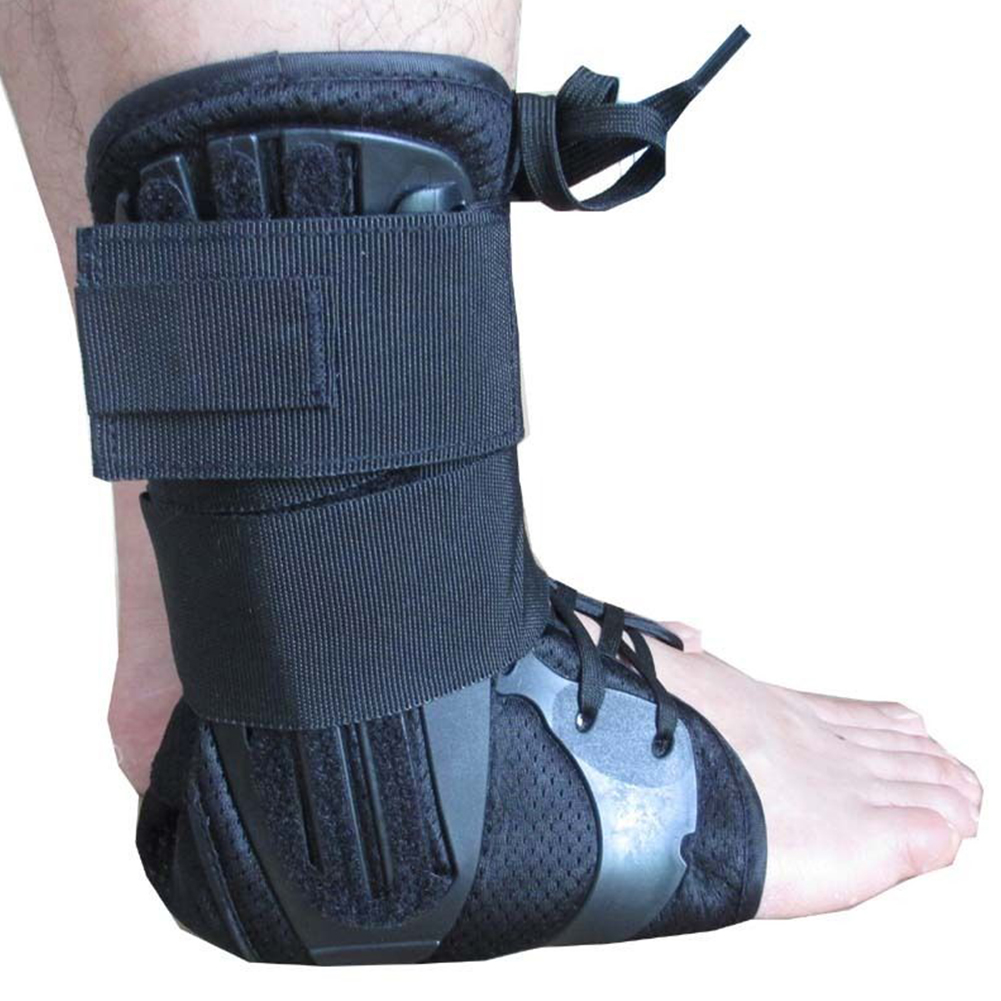 Achilles Tendon Adjustable Sport Pad Lace Up Support Stabilizer Pain Injury Elastic Guard Running Ankle Brace Safety