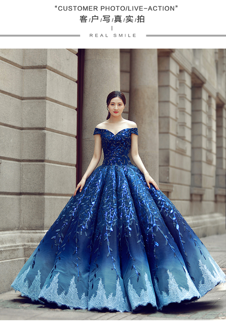 100%real luxury leaf royal court blue barcoque cosplay ball gown medieval  dress Renaissance gown ef68e2a8548e