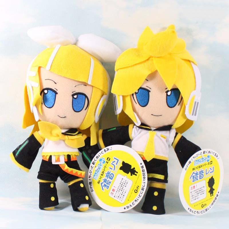 30cm Cute Vocaloid Hatsune Miku Kagamine Rin Len Plush Soft Figure Doll Toys For Kids Birthday Gifts