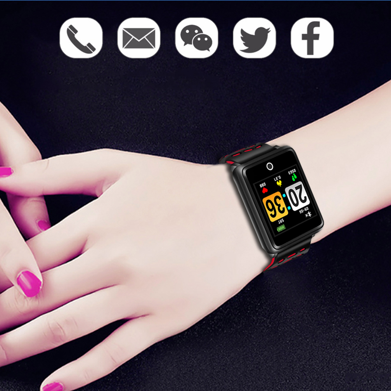 LIGE 2019 New Smart Watch Men Heart Rate Blood Pressure Monitor Waterproof Sports Smart Bracelet Fitness Watch Pedometer Relogio in Smart Wristbands from Consumer Electronics