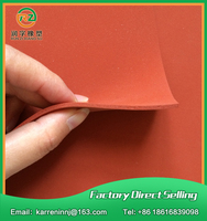 Red Silicone Foam Sheet Red Silicone Sponge Sheet Size 1000x1000x1mm Heat Transfer Rubber Matt