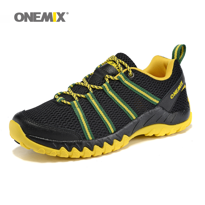 ФОТО Onemix Men Sport Running Shoes Sneaker Air Mesh Breathable Athletic Runner Jogging Trainers For Man summer Walking 7 Colors