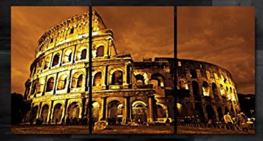 HD print 3 panel Ancient Rome Famous Building Oil Painting Wall Art ...