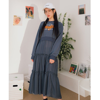 2019 New Arrival Oversized Women Long Dresses Pleated Tshirt Dress O Neck Long Sleeve Loose Vestidos Fashion Casual Clothes New