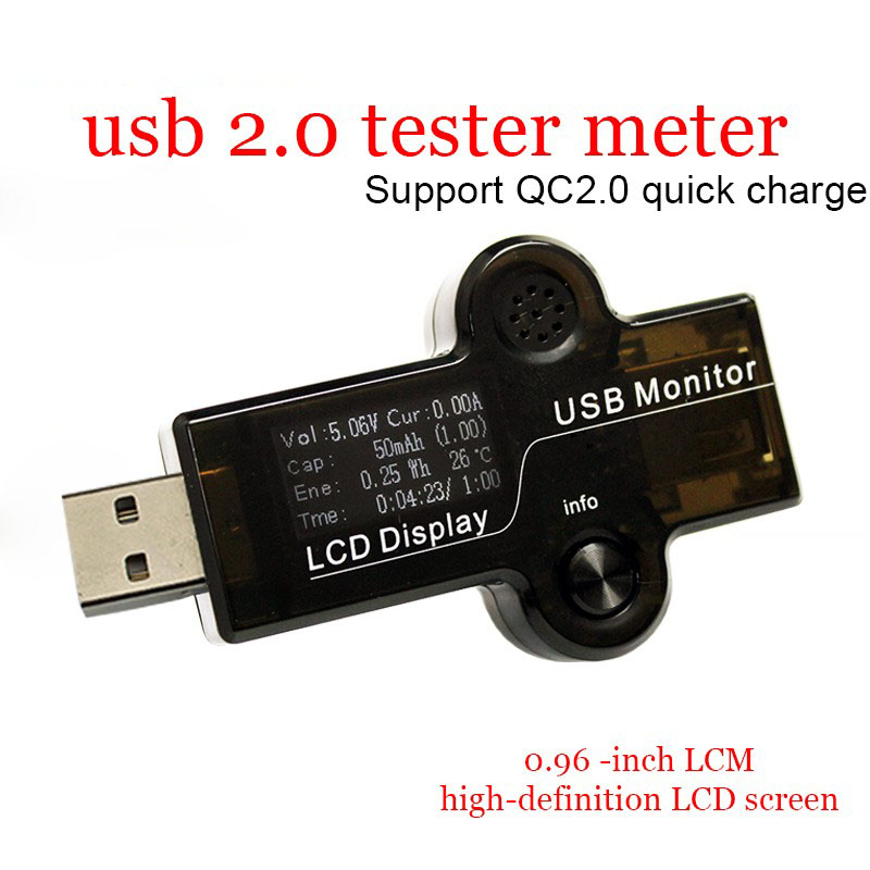 ATORCH USB Tester 2.0 Quick Charge White 0.96