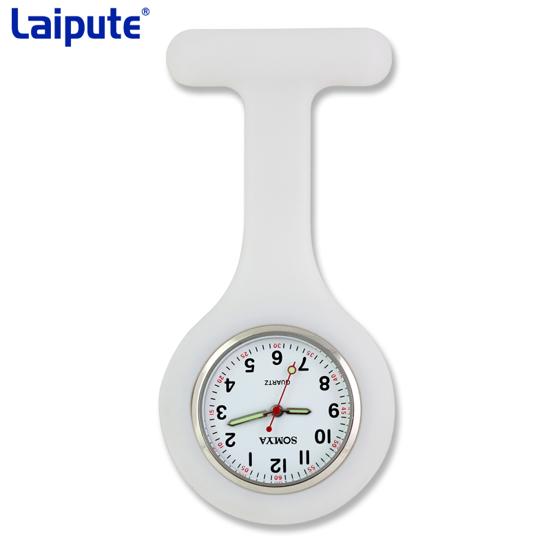 Silicone Fashion Silicone Nurses Watch Brooch Tunic Fob Pocket Stainless Dial Watches Fob Watch With Free Battery
