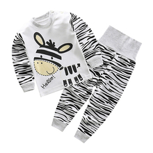 Spring and Fall Infant Baby Boys Girls Clothes Sets Outfits Cotton Animal Sports Suit for Newborn Baby Boys Girls Pajamas Sets цена 2017