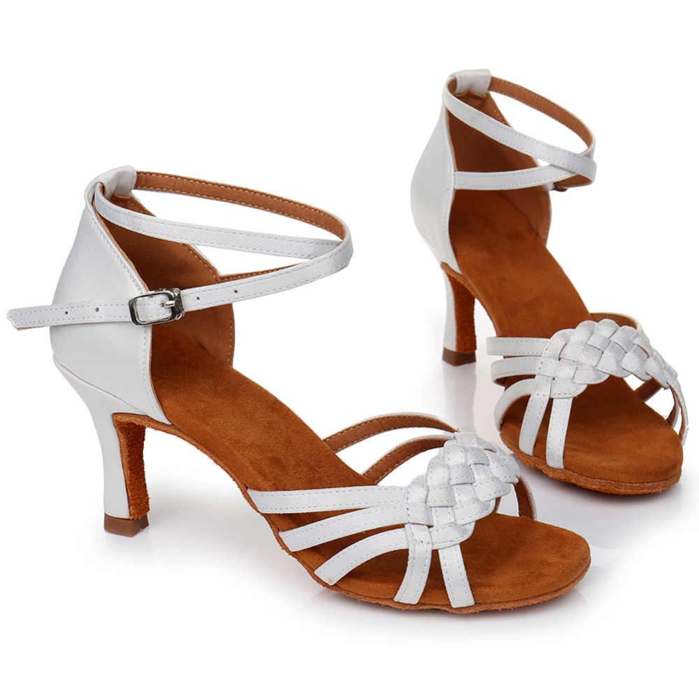 Gorący sprzedawanie kobiet Tango/sala balowa/do tańca Latin buty do tańca na wysokim obcasie Salsa profesjonalne buty do tańca dla dziewczynek damskie 5cm /7cm