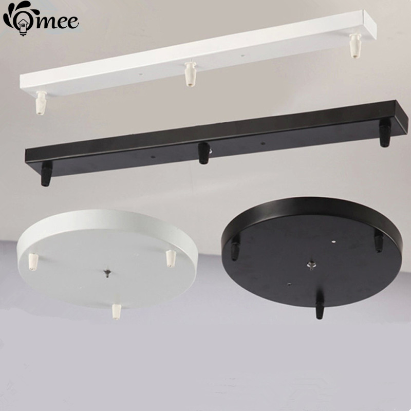 Us 22 44 49 Off 5heads Three Lamps Chandeliers Base Plate Lighting Accessories Black White Round Rectangular Ceiling Rose Canopy In