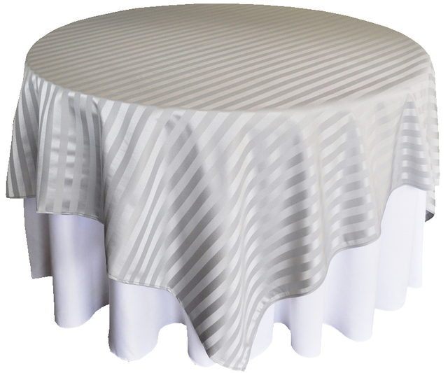 Round Square Striped Tablecloth Dining Wedding Table Cloth White Black Table  Cover Party Decoration Striped Table