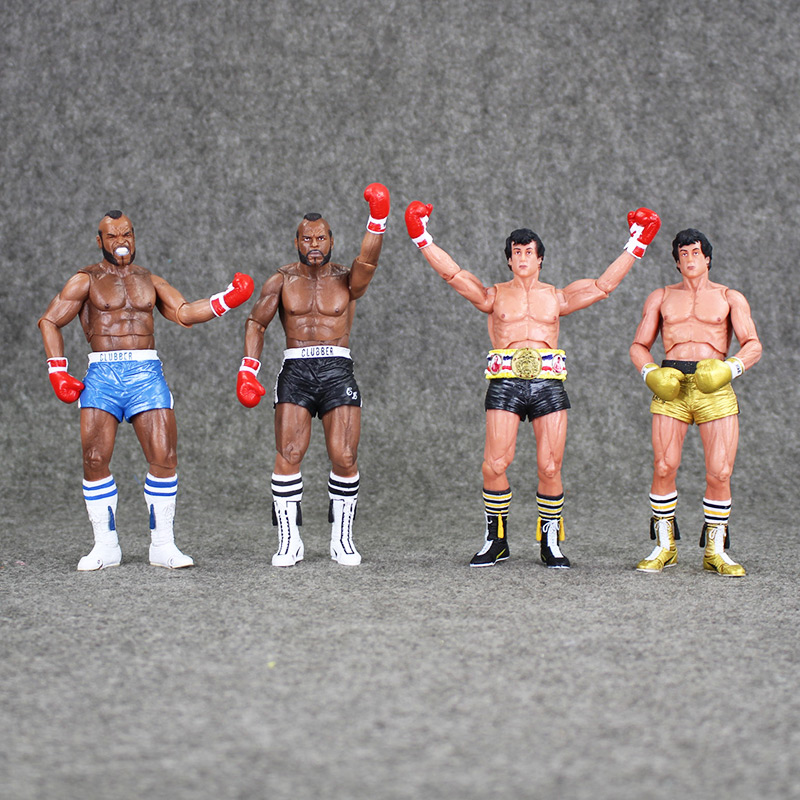 18cm NECA Rocky III ROCKY BALBOA CLUBBER LANG 40th Anniversary PVC Action Figure Collectible Model Toy neca the evil dead ash vs evil dead ash williams eligos pvc action figure collectible model toy 18cm kt3427