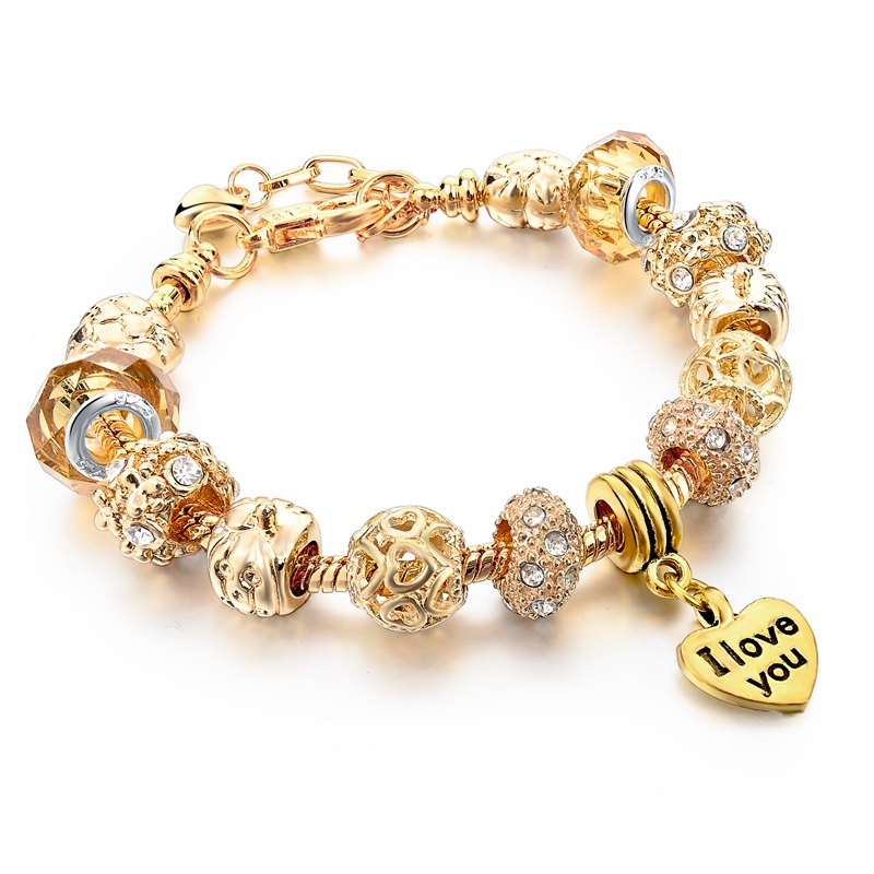 Szelam 2018 High Quality Heart Charm Bracelets For Women Snake Chain Gold Bangles Fashion Jewelry Sbr150074 In From