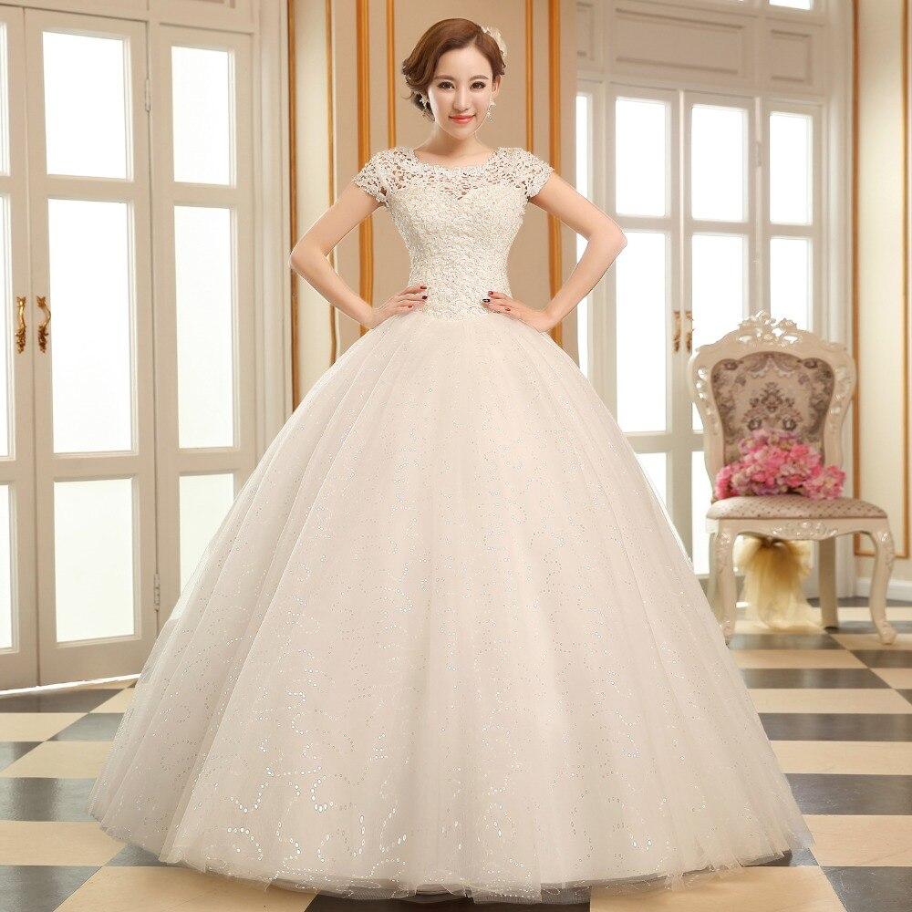 princess style wedding dress 2016 bride dress simple sheap bridal gown real photo wedding dress