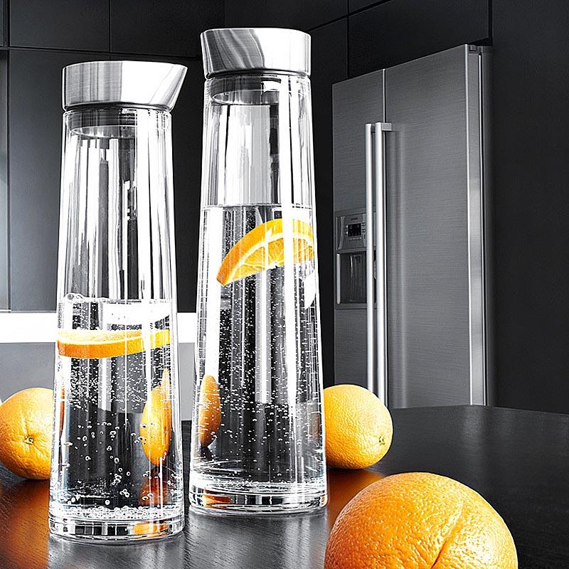 Bouteille d'eau cruche à eau verre résistant aux hautes températures bouteille de jus de fruits étanche bouteille de limonade bidons théière ménage pot