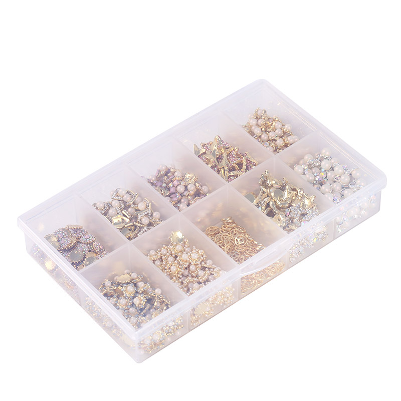 1 Pcs Transparent Plastic 10 Grid Empty Storage Container Box Nail Art Supplies Jewelry Display Storage Box Case Holder JH493 miles kimball flour bag plastic storage container