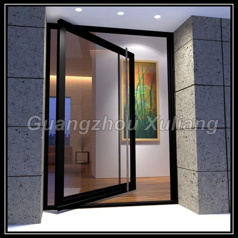 Marco de aluminio pivote puerta de entrada glass puerta en Puertas ...