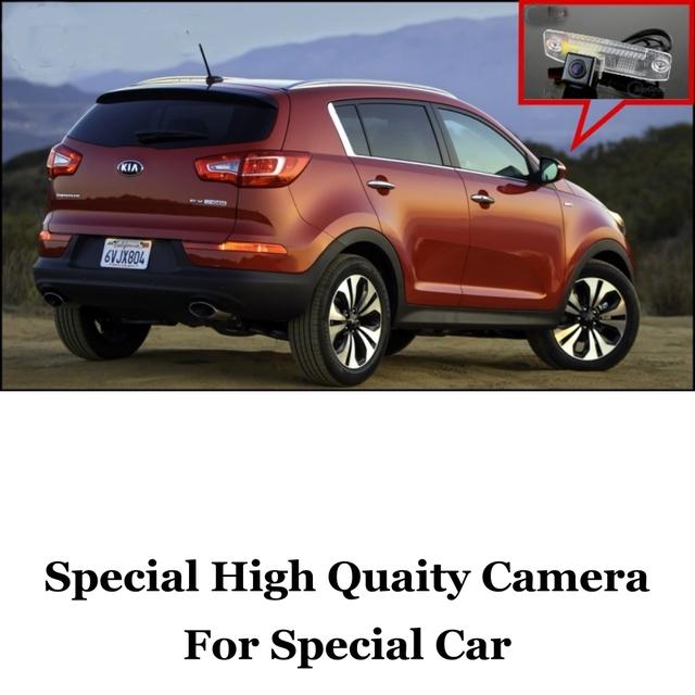 Câmera do carro Para KIA Sportage R 2011 ~ 2015 Ultra HD câmara de marcha câmera de visão traseira do automóvel imag Para Os Fãs de Uso | CCD + RCA