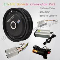 QS Motor 10*2.15inch 205 3000W Single Shaft In Wheel Hub Motor Electric Motorcycle Conversion Kit