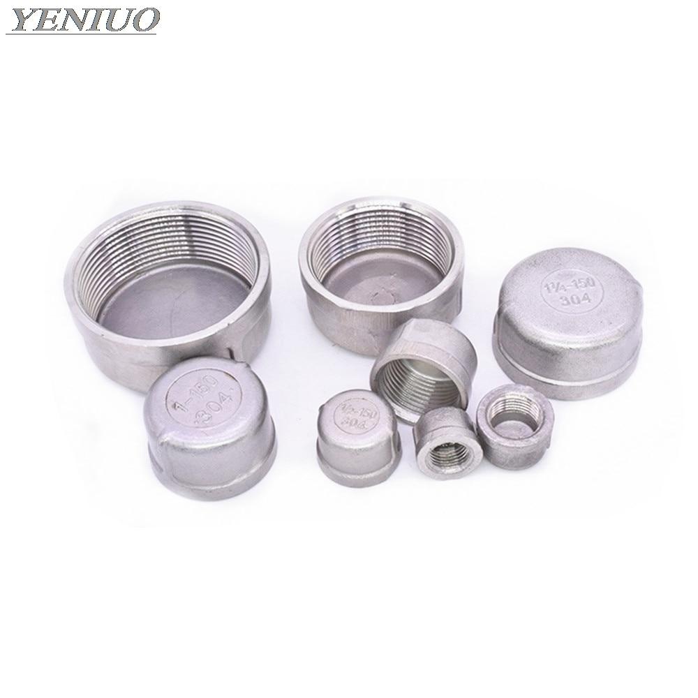304 Stainless Steel Inner Silk Tube Cap/head/tube Plug Pipe Fittings 1/8
