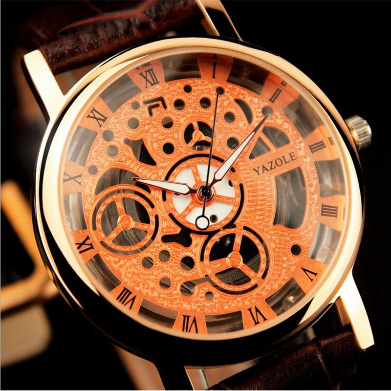 YAZOLE 2016 Skeleton Watch Men Top Brand Luxury Famous Wristwatch Male Clock Quartz Watch Wrist Quartz-Watch Relogio Masculino yazole new watch men top brand luxury famous male clock wrist watches waterproof small seconds quartz watch relogio masculino