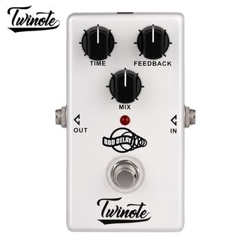 Twinote BBD Delay 300ms delay time Stompbox Analogue Circuit Electric Guitar Effects Pedal