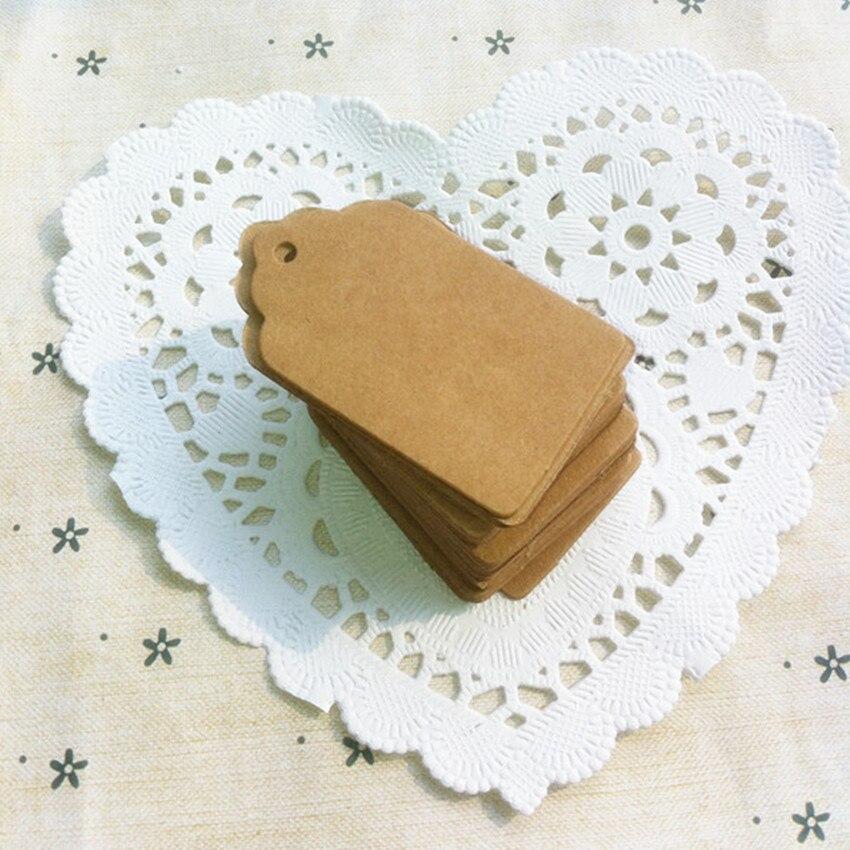 Devoto 350gsm Carta Kraft Tag Scrivibile Carta Di Nome Con Foro Tondo Per La Cerimonia Nuziale Note Fai Da Te In Bianco Prezzo Hang Tag Regalo Di Kraft 30x50mm