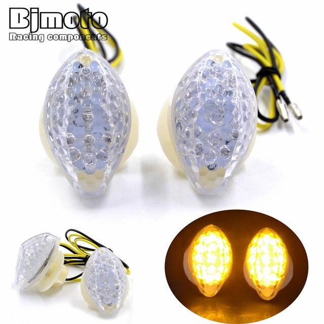 Bjmot Led Motorcycle Turn Signal Light Bulb Amber Indicators Blinker For Honda Cbr 600rr 900rr 929