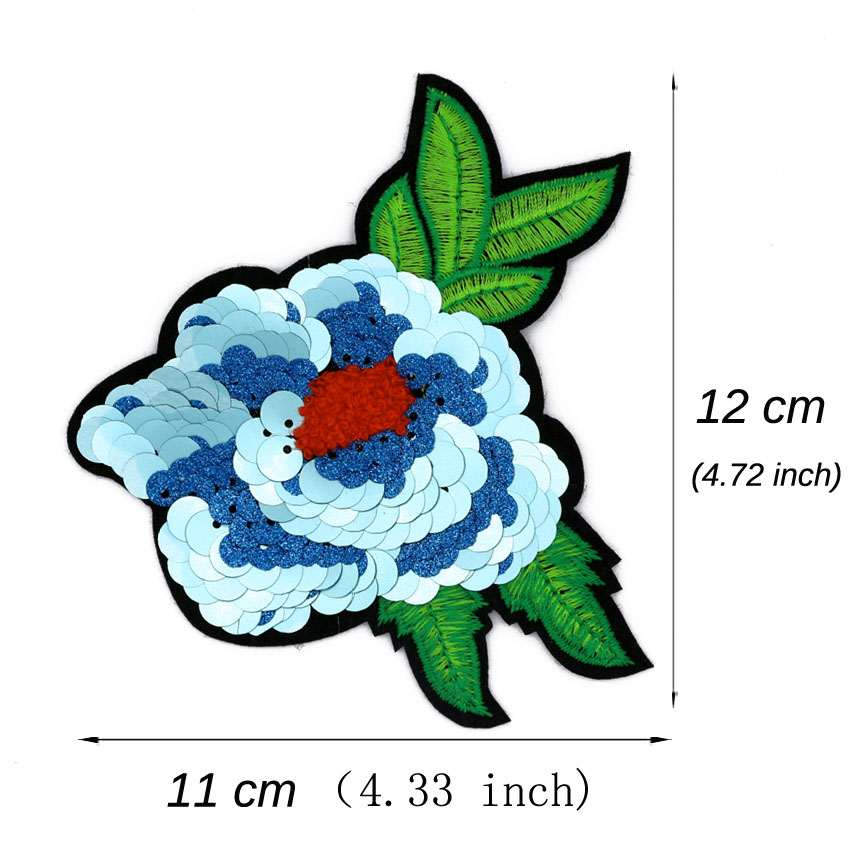 "Lot 4 0.75/"" Green Felt Flower Embroidery patch"