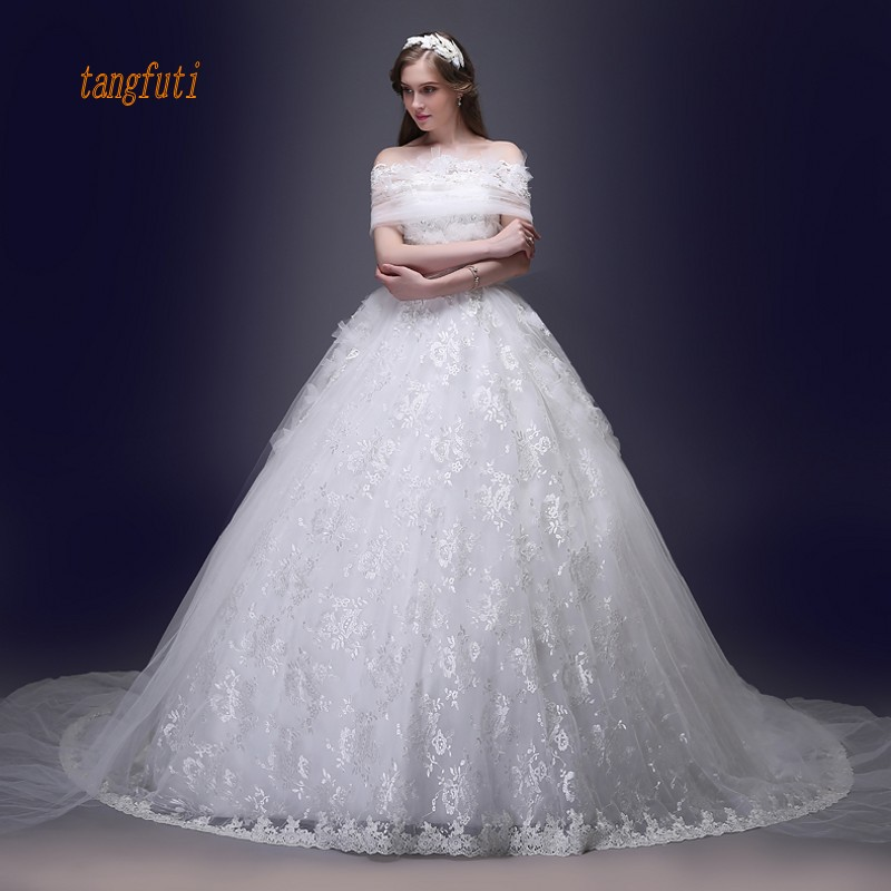 Western Wedding Dresses.Us 240 35 45 Off Lace Wedding Dresses Long Ball Gown Off The Shoulder Country Western Wedding Gowns Wedding Bridal Bride Dresses Weddingdress In