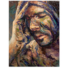 "Diamond art""Lonely lonely men""Diamond Embroidery sale full square Rhinestones Pictures full display gay mosaic diamond painting(China)"