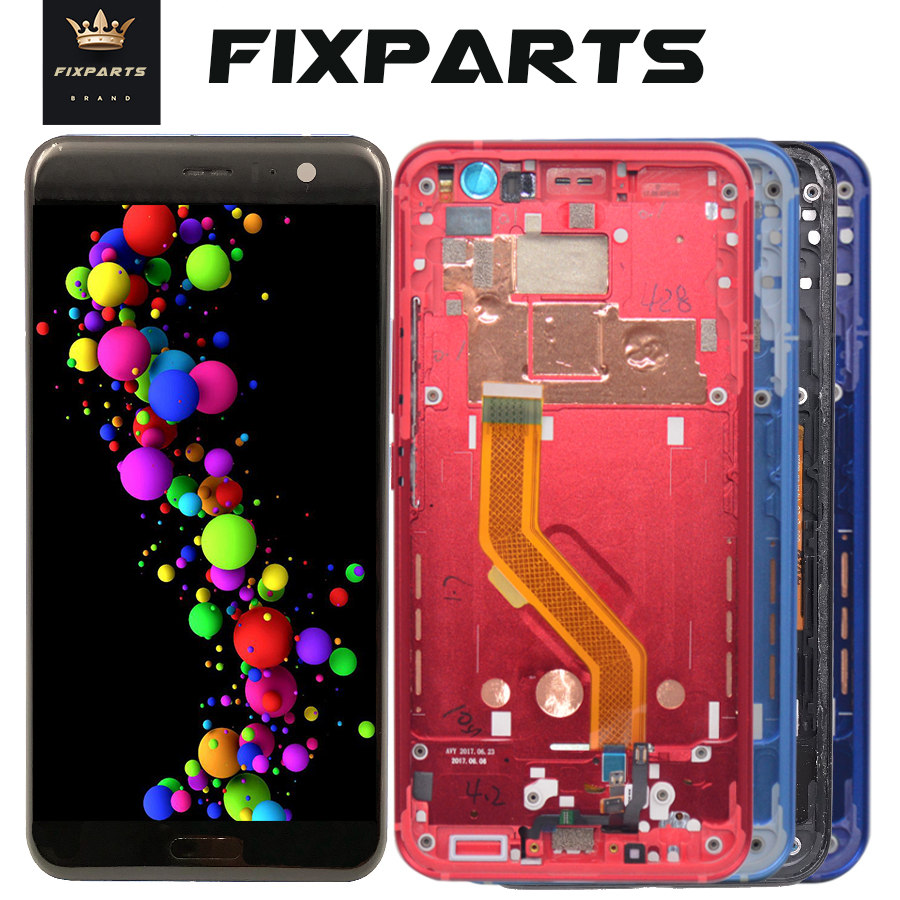 "For 5.5"" HTC U11 LCD Display Touch Screen Digitizer Assembly For HTC U11 LCD With Frame U 3w U 3u Replacement Parts+Free Tools