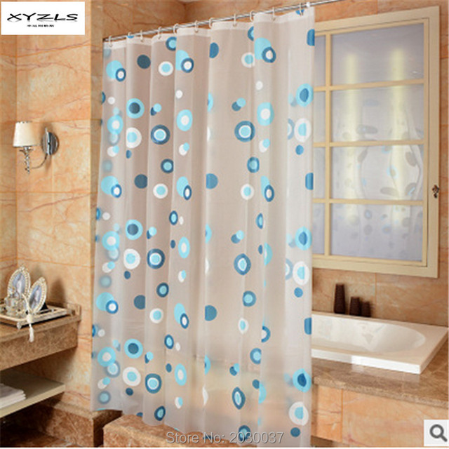 XYZLS Eco-friendly PEVA Moldproof Waterproof Shower Curtain Bathroom Products Bathroom Curtains