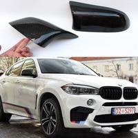 F16 X6 M Стиль углерода Волокно заменить зеркало автомобиля крышки Кепки Накладка для BMW X6 F16 2014 2016