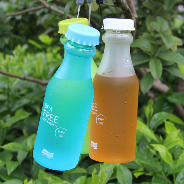 Oussirro 10 Pcs Set 550ml Korean Water Bottle Bpa Free Unbreakable