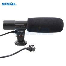 Microfone estéreo externo para câmera nikon, Mic-01 profissional para câmera d7500 d7200 d5600 d5500 d5300 d5200 d3300 ltd d750 d500 d5 d4