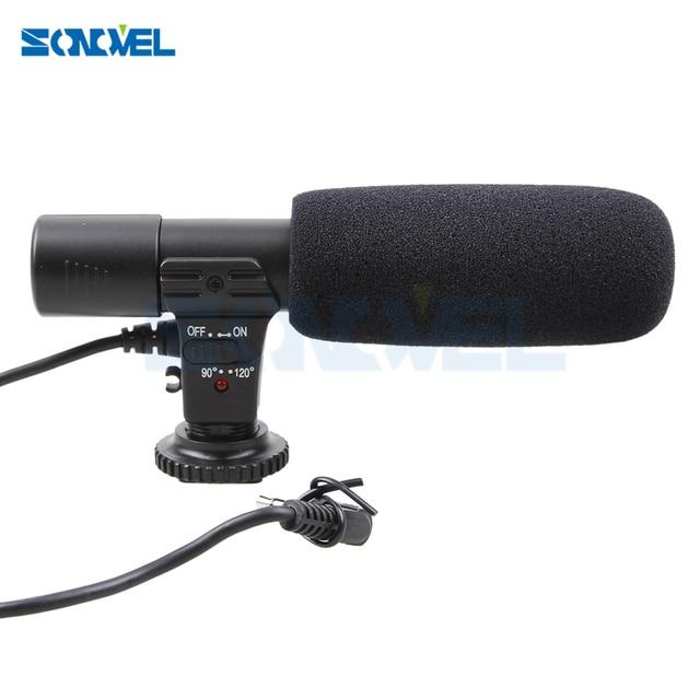 Mic 01 cámara profesional Micrófono estéreo externo para Nikon D7500 D7200 D5600 D5500 D5300 D5200 D3300 D810 D750 D500 D5 D4
