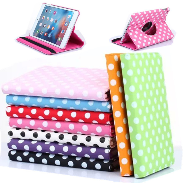Dot Leather Flip Smart 360 Rotating Cases for apple ipad mini 4