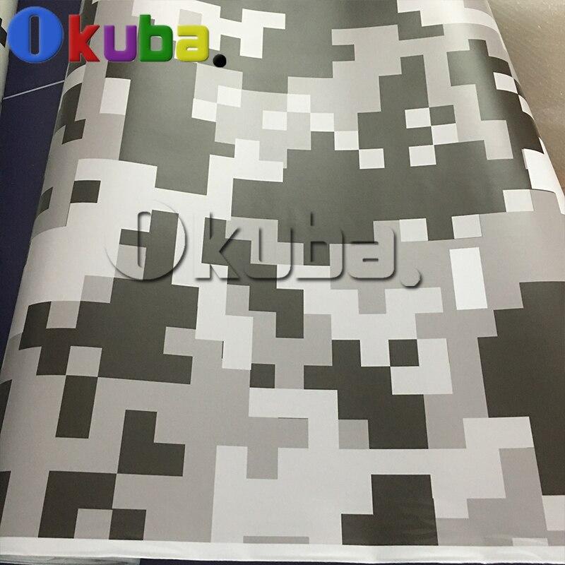 Jumbo Black White Pixel Digital Camouflage Car Full Body
