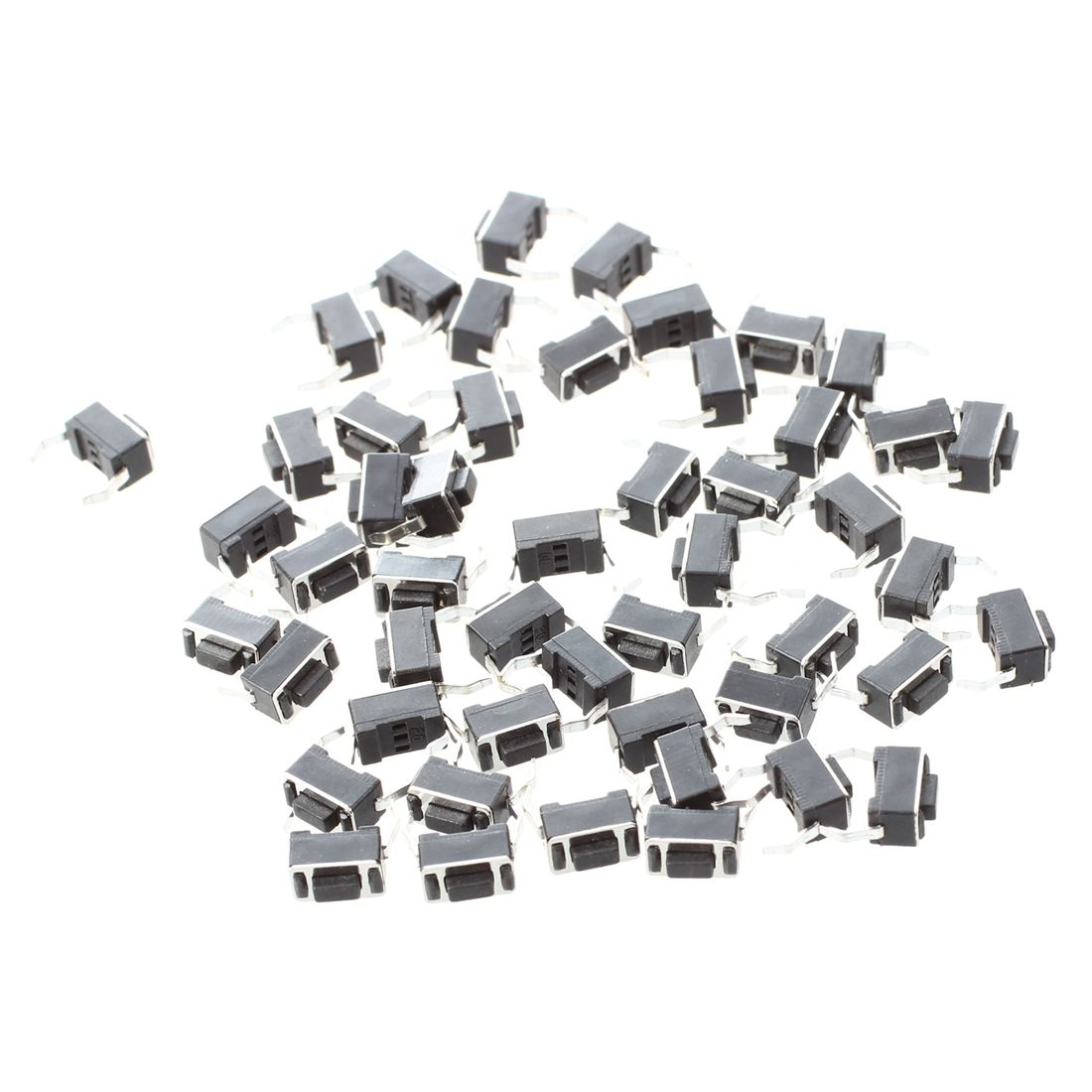 50x Momentary Tact Tactile Push Button Switch 2 Pin DIP Through Hole 3x6x4.3mm